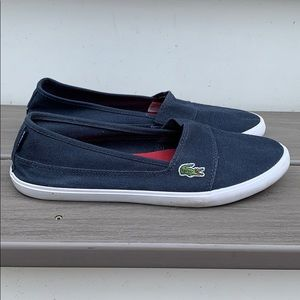 Lacoste Marice Canvas Slip-ons